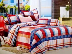 Large Checks Printed Cotton Beddings (GW-312)