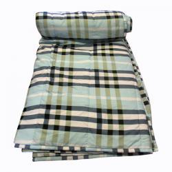 Light Color Check Printed Summer Blanket - (GW-BK-018)