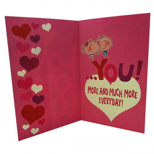 Love You More And Much More Everyday Card - (ARCH-467)