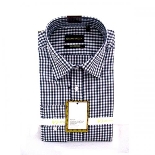 Men's Buttondown Collar Check Shirt - (UV-003)