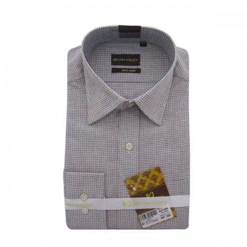 Men's Buttondown Collar Check Shirt - (UV-008)