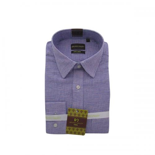 Men's Buttondown Collar Check Shirt - (UV-009)