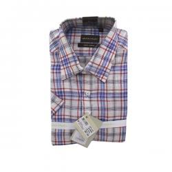 Men's Buttondown Collar Check Shirt - (UV-019)