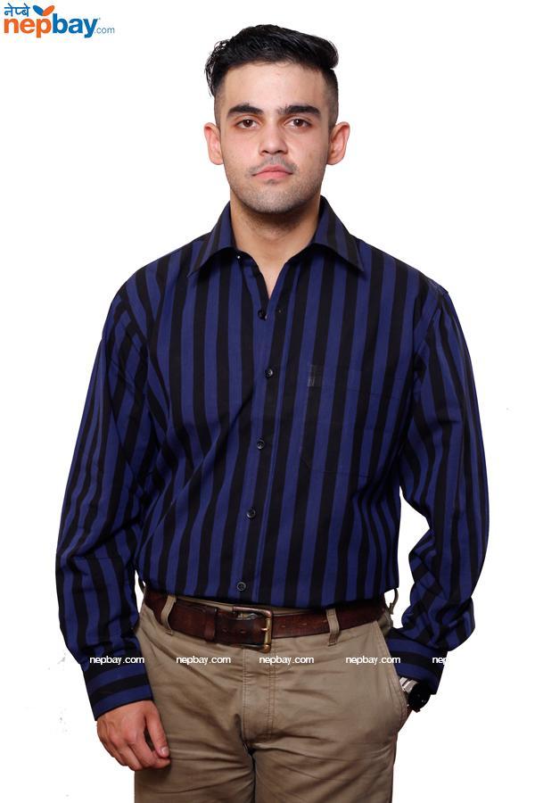 Men's Formal Shirt - 100% Cotton - Full Shirt, Slim Fit - (A0247)