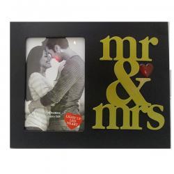MR. & MRS. LED Black Photo Frame - (ARCH-436)