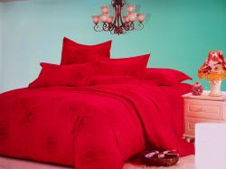 Red Rose Printed Exotic Cotton Beddings (GW-313)