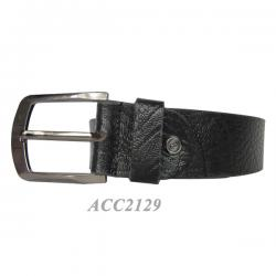 Rough Prited Formal Black Belt For Men