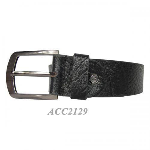 Rough Prited Formal Black Belt For Men