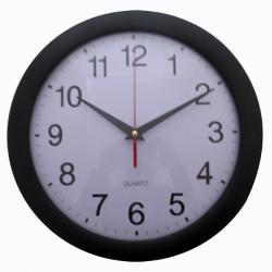 Simple Black White Analog Clock - (TP-122)