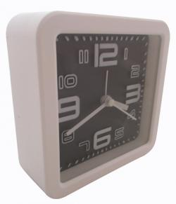 Simple Fashion Black White Alarm Clock - (TP-118)
