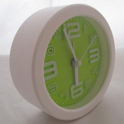 Simple Fashion Green And White Alarm Clock - (TP-119)
