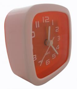 Simple Fashion Orange White Alarm Clock - (TP-121)