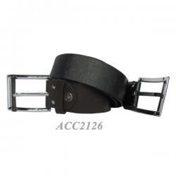 Stripe Leather Belt for Men