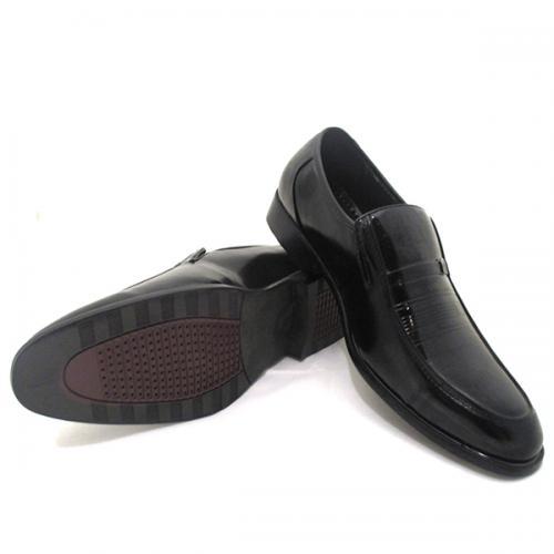 Stylish Black Leather Formal Shoes For Men - (SB-0001)