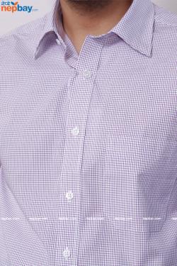 Urvan Valley Men's Formal Check Shirt - Full Shirt, Slim Fit (A0390)