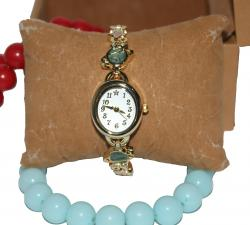 Gold Plated Analog Watch for Ladies