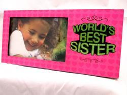 World's Best Sister Photo Frame