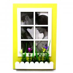 Yellowish Green Window Designed Big Photo Frame - (ARCH-430)