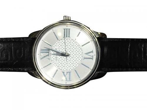 Geiger Black leather Strap Watch Man (GE-1103)