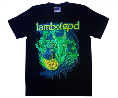 Black Lamp of God Printed T-Shirt