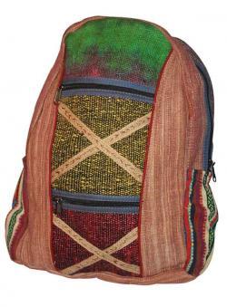 Cross Color Hemp Cotton Silk Jute bag (DT-HB-009)
