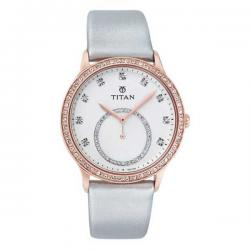 Leather Band Women's Titan Watch