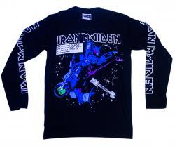 Black Iron Maiden Printed Full T-Shirt