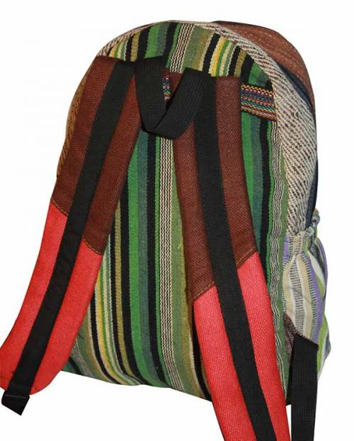 Rainbow Color Liner Hemp cotton jute silk bag (DT-HB-007)