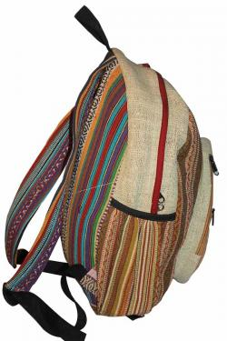 Colorful Liner Hemp Backpack Bag (DT-HB-003)