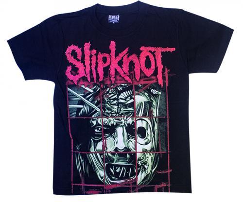 Black SlipKnot Printed T-Shirt