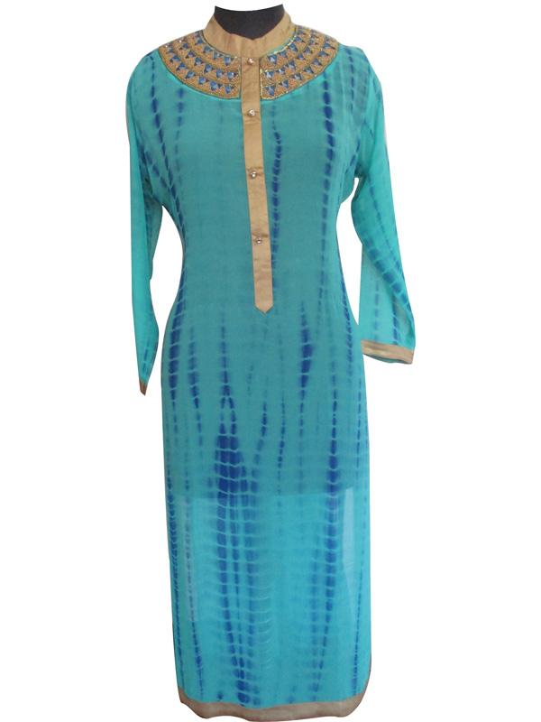 ed3a422e4a Blue Georgette Kurti by Neeva Fashion Boutique