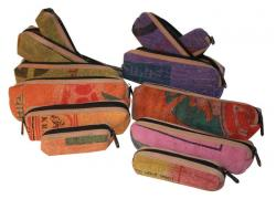 Stone Wash Cotton 3 in 1 Pencil Case (DT-PC-003)