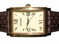 Geiger Leather Strap Fashion Watch for Man (GE-1107)