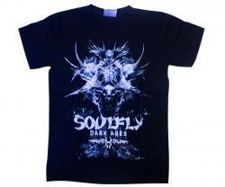 Black Soulfly Printed T-Shirt