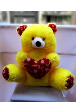 Yellow Heart Teddy (FLOWERHOUSE-006)