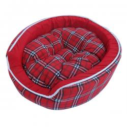 Red Color Dog & Cat Mattress (Woven Cotton)
