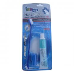 Nano Silver Tooth Paste/ Tooth Brush Set for Pet