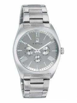 Titan Men's Wrist Watch in Grey Dial