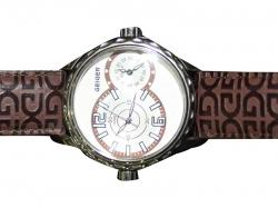 Geiger Leather Strap Fashion Watch (GE-1105)