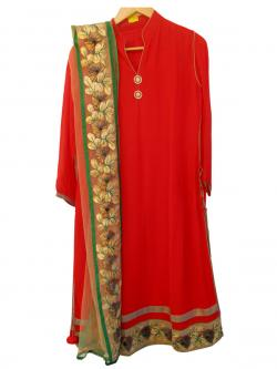 Gorget Suit With Net Duppatta