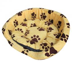 Soft Round Warm Cozy Pet Dog Cat Bed with Mat