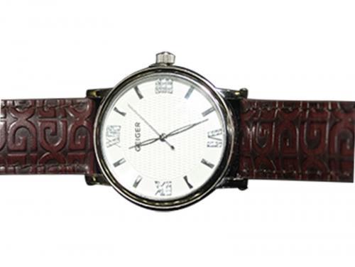 Geiger Leather Strap Fashion Watch Men (GE-6008)