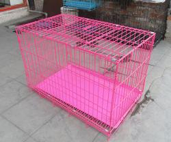 Pink Epoxy Dog Cages.