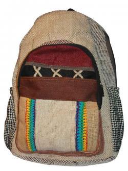 """Light """"X"""" Color Hemp Jute Silk Cotton Bag (DT-HB-013)"""