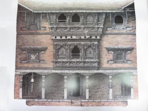 Carfyyard Faced Of Kuthumath Bhaktpur Nepal - Robert Pawell