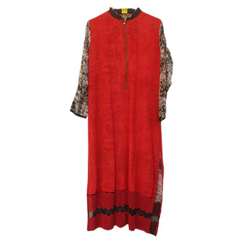 Gorget Double Layer Kurta (DF-0195)
