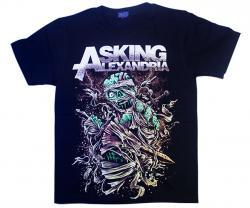 Asking Alexandria Printed Black T-Shirt