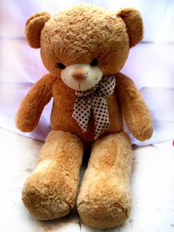 Brown Big Hug Teddy With Bow - (FLOWERHOUSE-009)