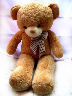 Brown Big Hug Teddy With Bow - (FLOWERHOUSE-009)