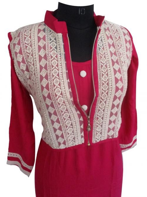Cotton Kurti With Waist Coat